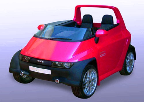 kids red small car model